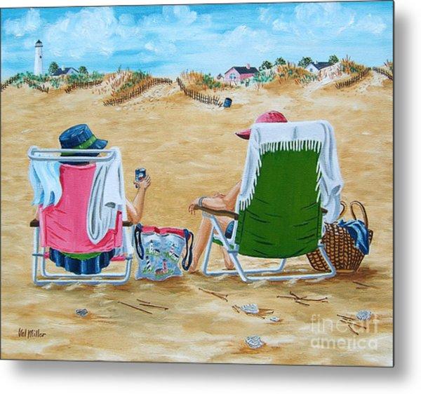 Ladies On The Beach Metal Print