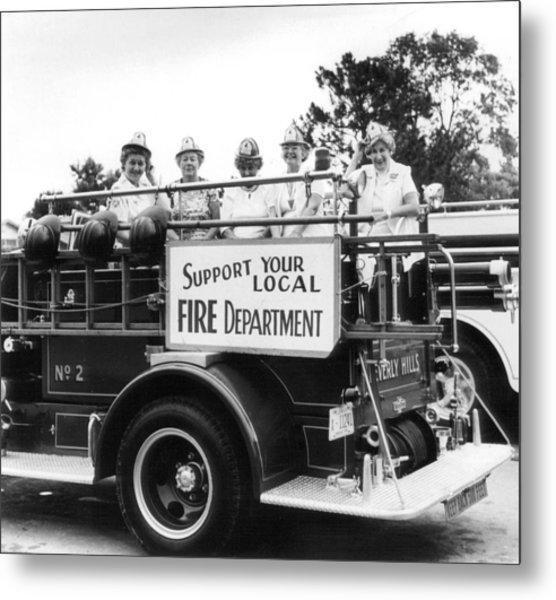 Ladies Supporting Fire Department Metal Print