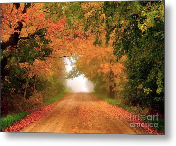 Lady Autumn Metal Print