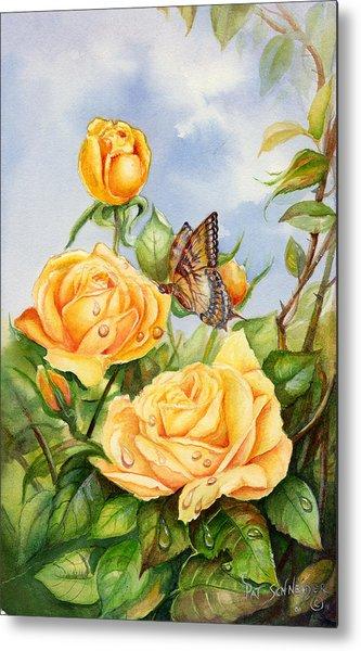 Lady Hillington Tea Rose Metal Print
