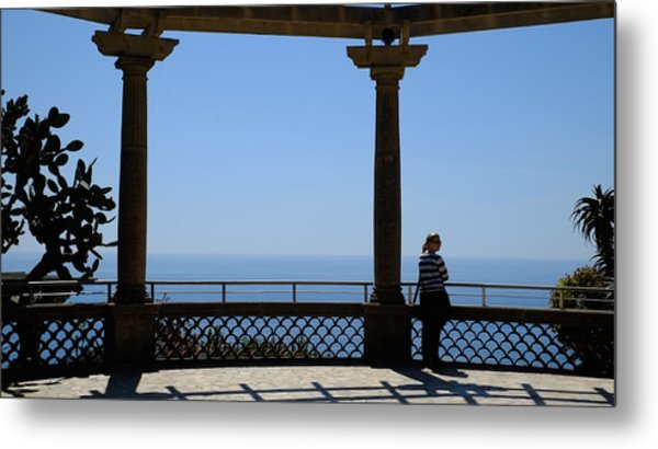 Lady In Monaco Metal Print