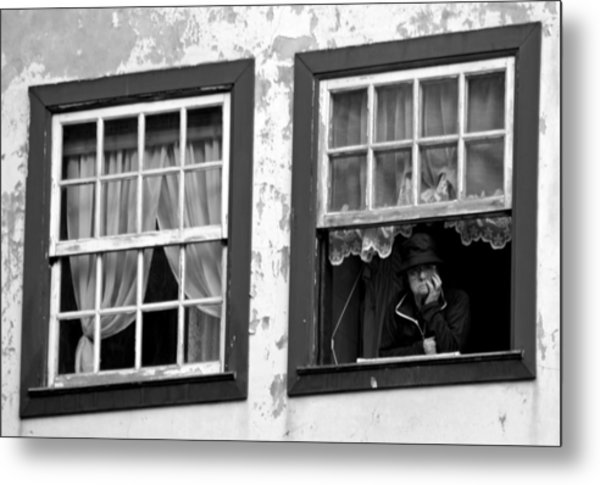 Lady In The Window II Metal Print by Dave Dos Santos