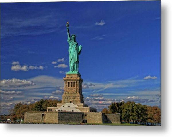 Lady Liberty In New York City Metal Print