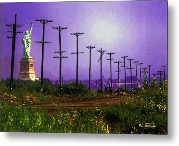 Lady Liberty Lost Metal Print