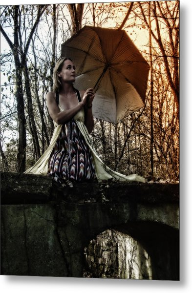 Lady Rain Metal Print