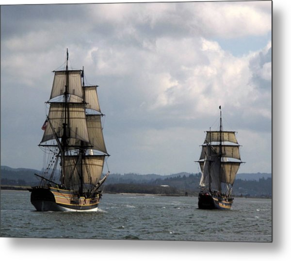 Lady Washington And The Hawaiian Chieftain Metal Print