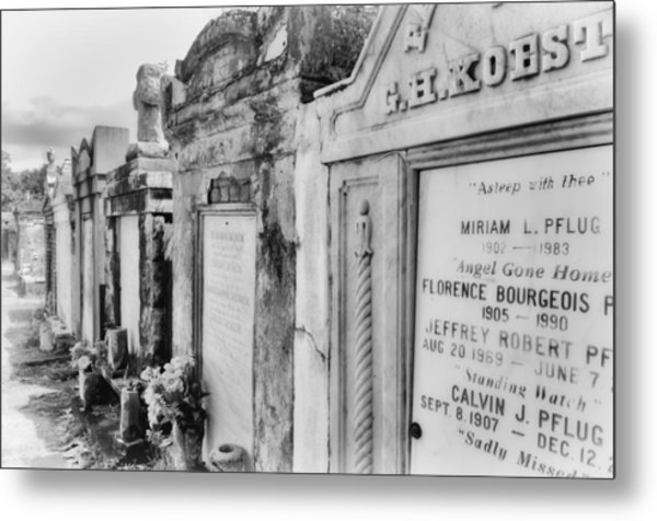 Lafayette Cemetery Black And White Metal Print