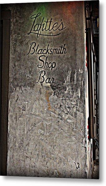 Lafitte's Blacksmith Shop Bar Metal Print
