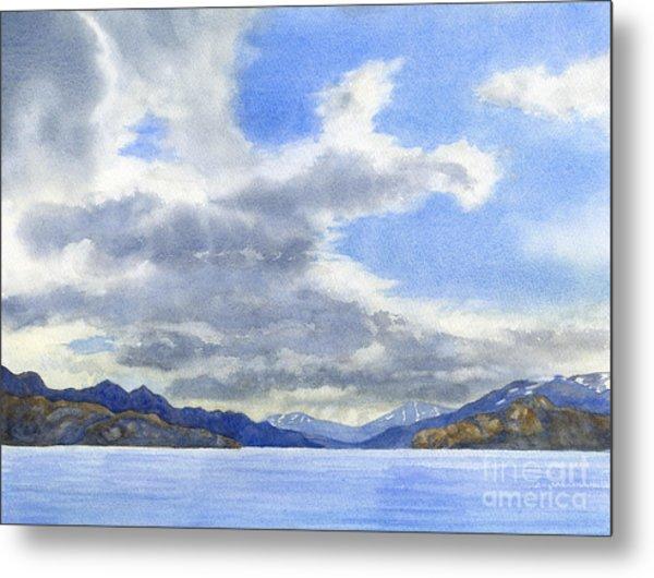 Lago Grey Patagonia Metal Print by Sharon Freeman