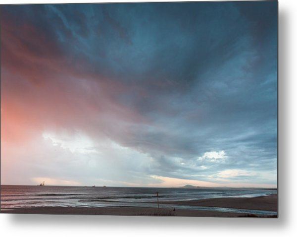Lagoon Mouth Sunset Metal Print