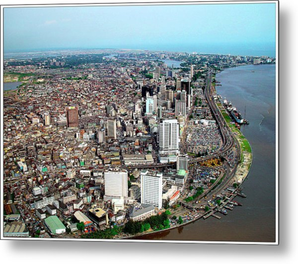 Lagos Metal Print by Alex Bartel/science Photo Library
