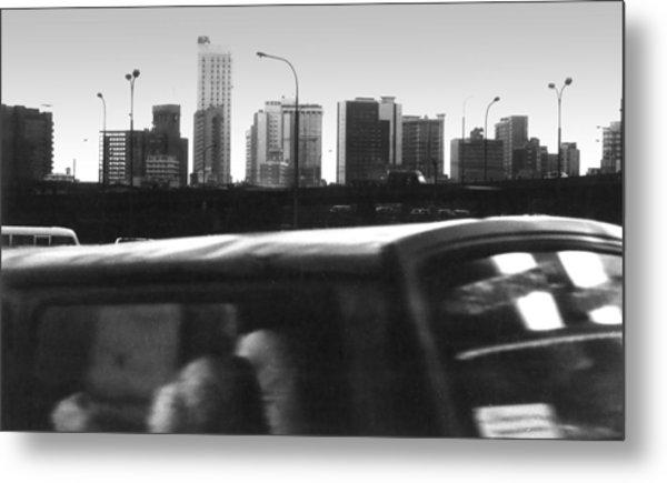 Lagos Skyline At Dusk Metal Print