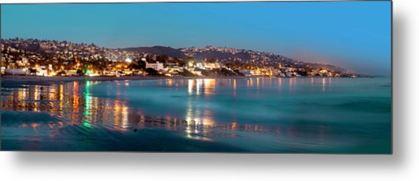 Laguna Beach Twilight Reflections Metal Print