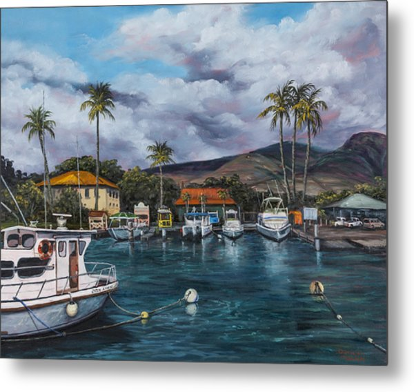 Metal Print featuring the painting Lahaina Harbor by Darice Machel McGuire