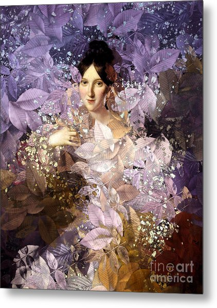 Laila - Des Femmes Et Des Fleurs Metal Print