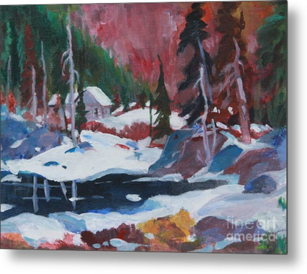 Lake Algonquin Park  Revisited Metal Print by Sherrill McCall