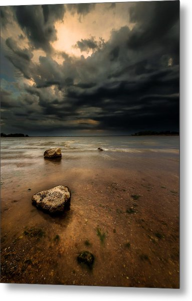 Lake And Clouds Metal Print