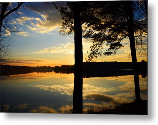 Lake At Sunrise Metal Print