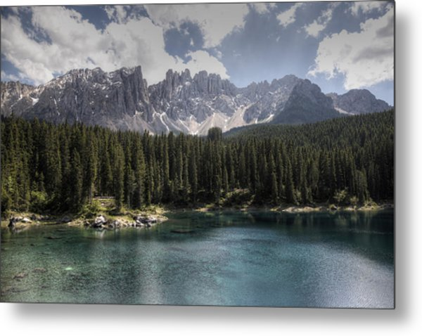 Lake Carezza Metal Print