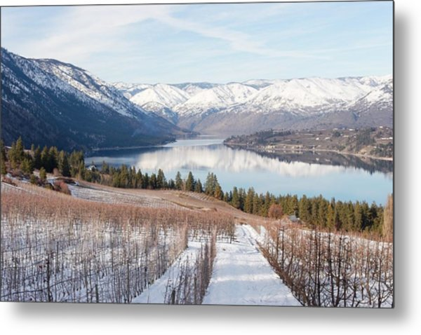 Lake Chelan In Winter Metal Print