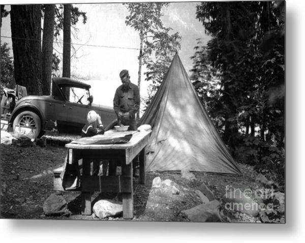 Lake Crescent Camp Site Metal Print