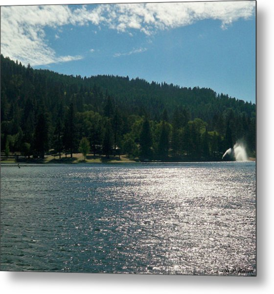 Scenic Lake Photography In Crestline California At Lake Gregory Metal Print