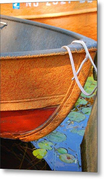 Lake Hopatcong Boat Metal Print