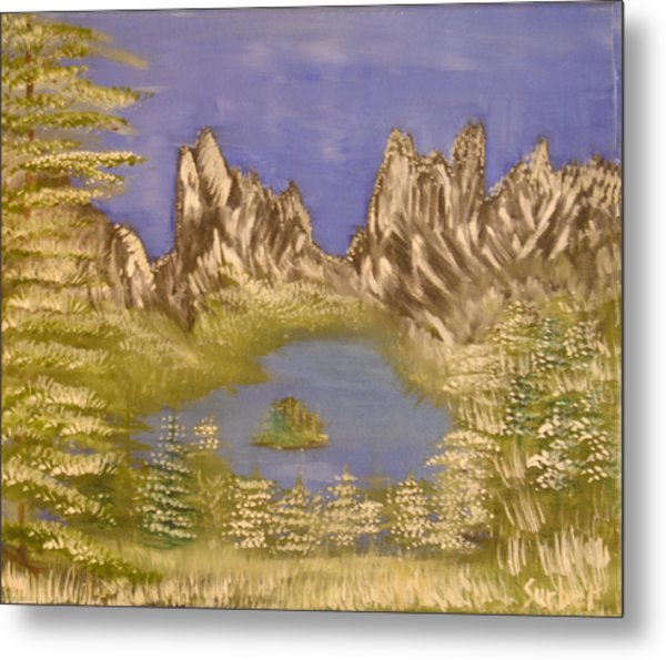 Lake In Glacier Metal Print