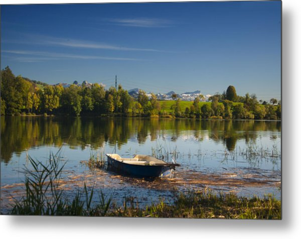 Lake In Switzerland Metal Print
