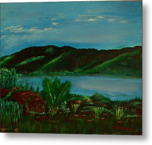 Lake In The Mountains Photo Metal Print