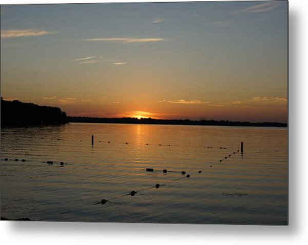 Lake Le Homme Dieu Sunset Metal Print