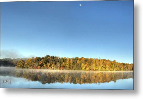 Lake Logan Fall Panorama Metal Print