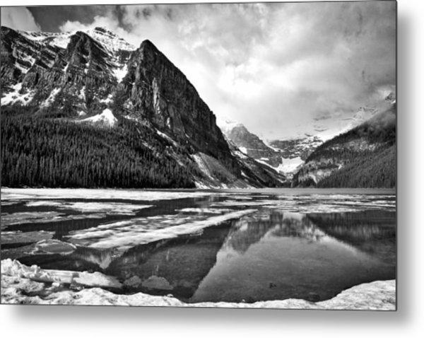 Lake Louise - Black And White #3 Metal Print
