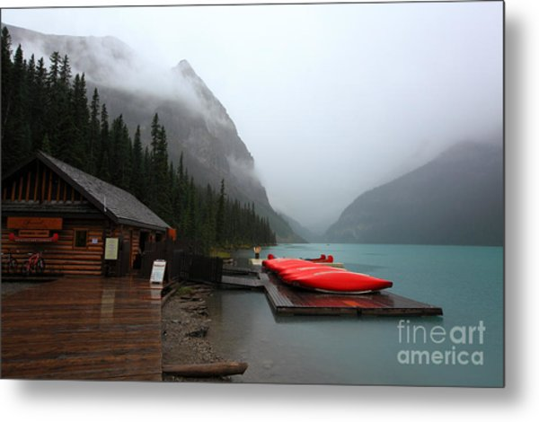 Lake Louise In Banff Alberta Metal Print