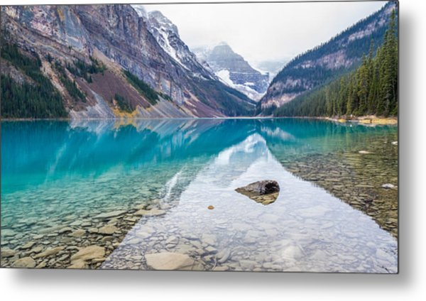 Lake Louise In Banff National Park Alberta Metal Print