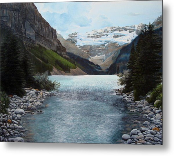 Lake Louise Metal Print by Jennifer Hotai