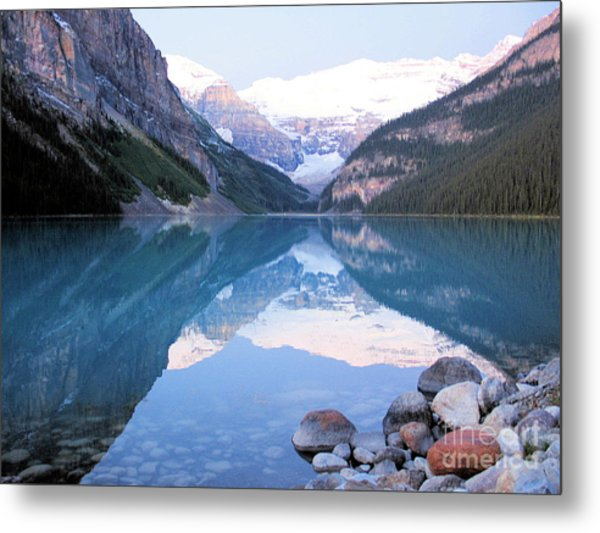 Lake Louise Morning Metal Print