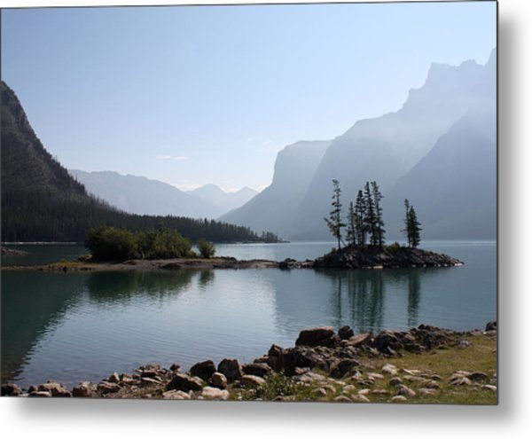 Lake Mennewanka Metal Print by Carolyn Ardolino