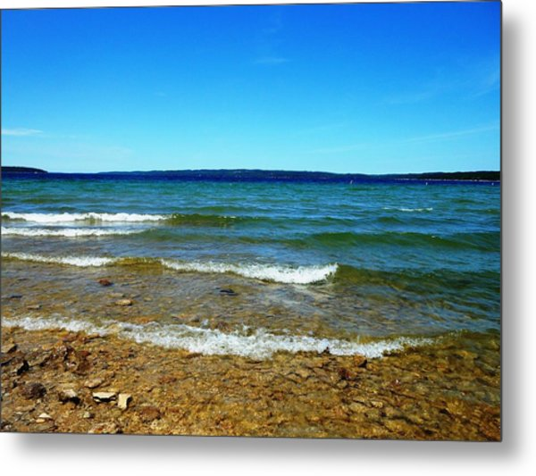 Lake Michigan Metal Print by Tracey Griffor