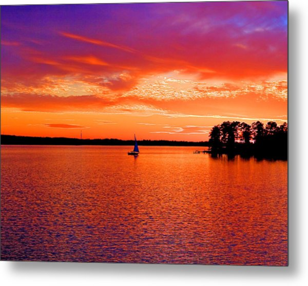 Lake Murray Sunset Metal Print