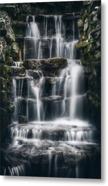 Lake Park Waterfall 2 Metal Print
