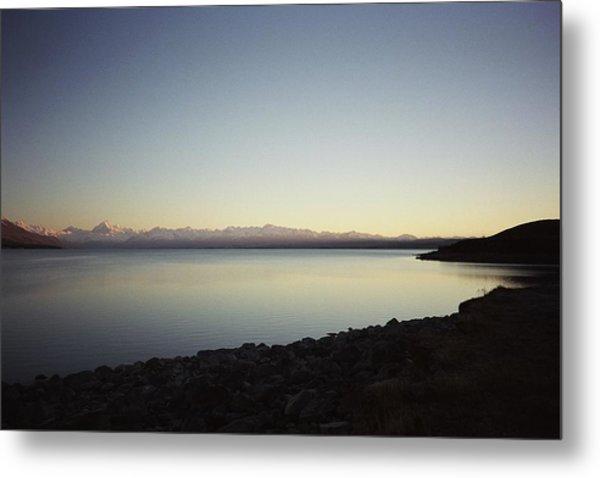 Lake Pukaki First Light Metal Print