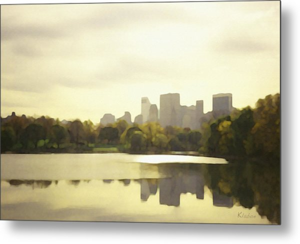 Lake Reflection Skyline 3 Metal Print