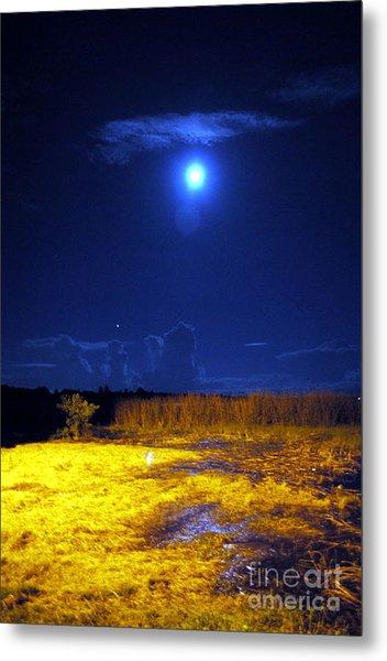 Moonrise Over Rochelle - Portrait Metal Print