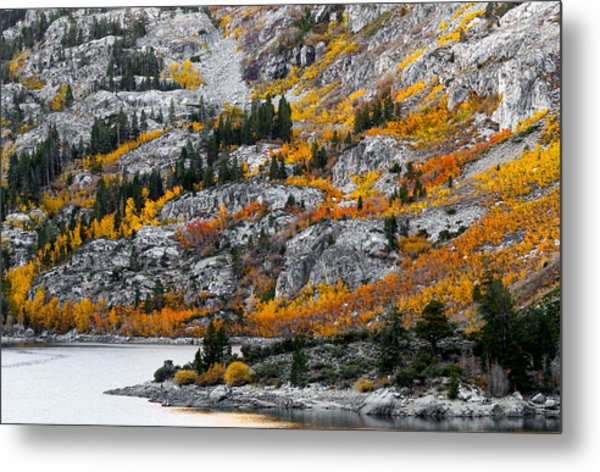 Lake Sabrina At Dawn Metal Print