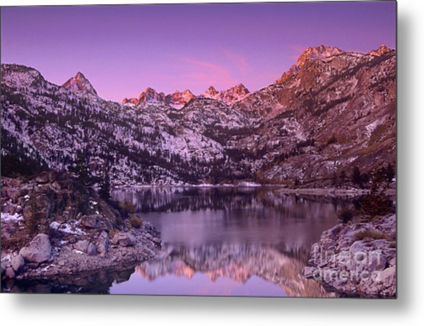 Metal Print featuring the photograph Lake Sabrina Sunrise Eastern Sierras California by Dave Welling