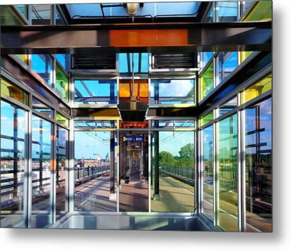 Lake Street Rail Station Metal Print