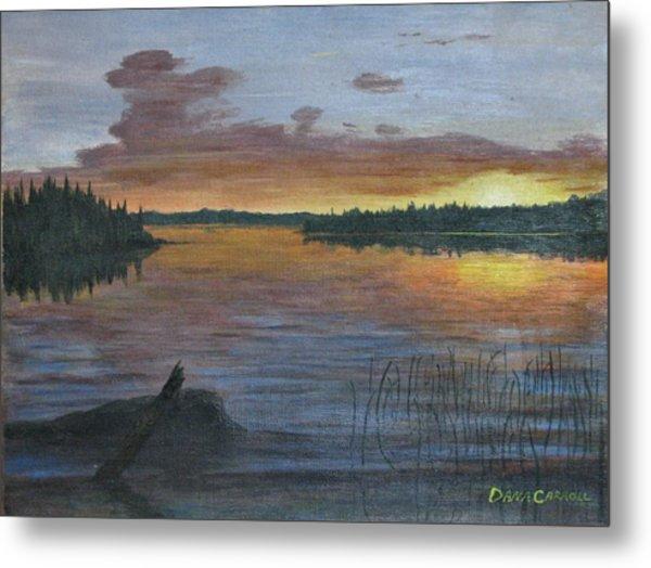 Lake Sunrise Metal Print by Dana Carroll