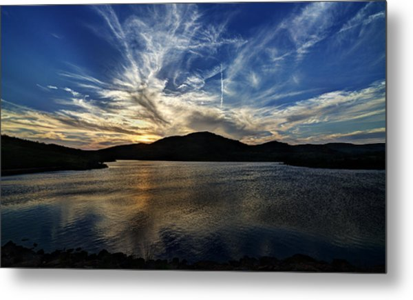 Lake Sunset In The Wichita Mountains Metal Print
