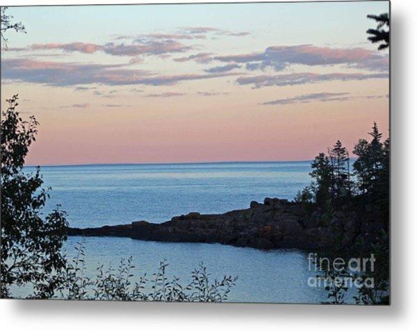 Lake Superior At Sunset Metal Print